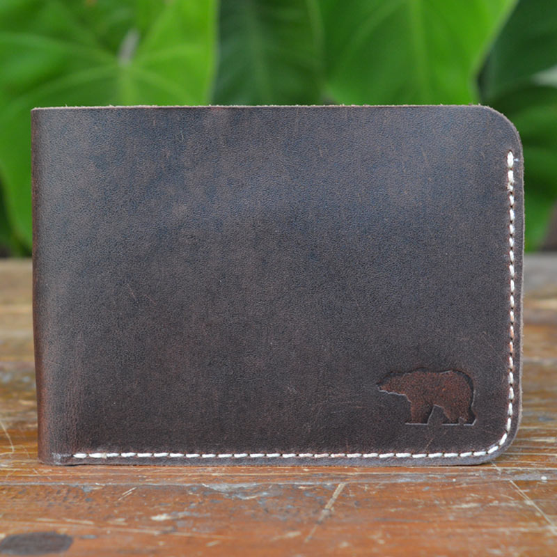 Kit in Crazy Horse Leather - Leather Men's wallets - Durable Leather Classics - Bear Necessities