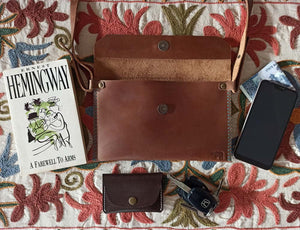 Crossbody Clutch - Leather Crossbody bags - Durable Leather Classics - Bear Necessities