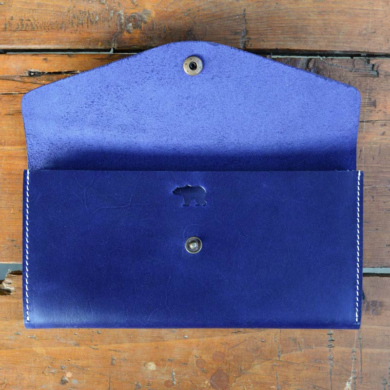 Mehru - Blue - Leather Women's wallets - Durable Leather Classics - Bear Necessities