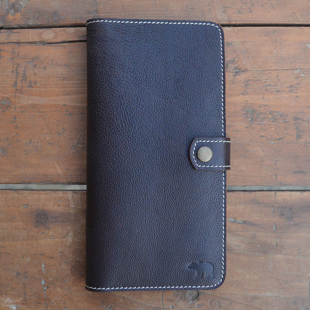 Passport Wallet - Dark Brown - Leather Travel accessories - Durable Leather Classics - Bear Necessities