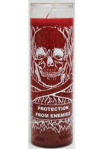Protection From Enemies Plain Candle