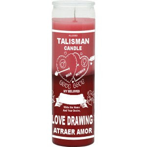 Love Drawing Talisman Plain Candle