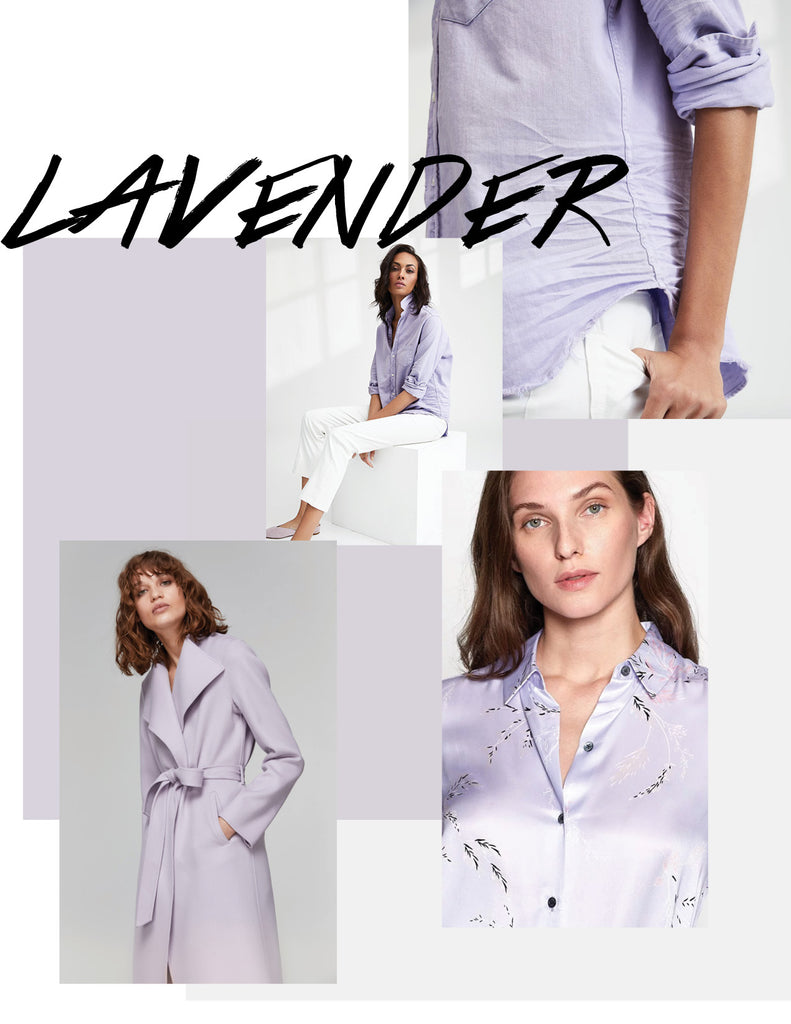 Mackage Leora Coat in Lavender, Equipment blouse, Frank & Eileen Womens Button Up