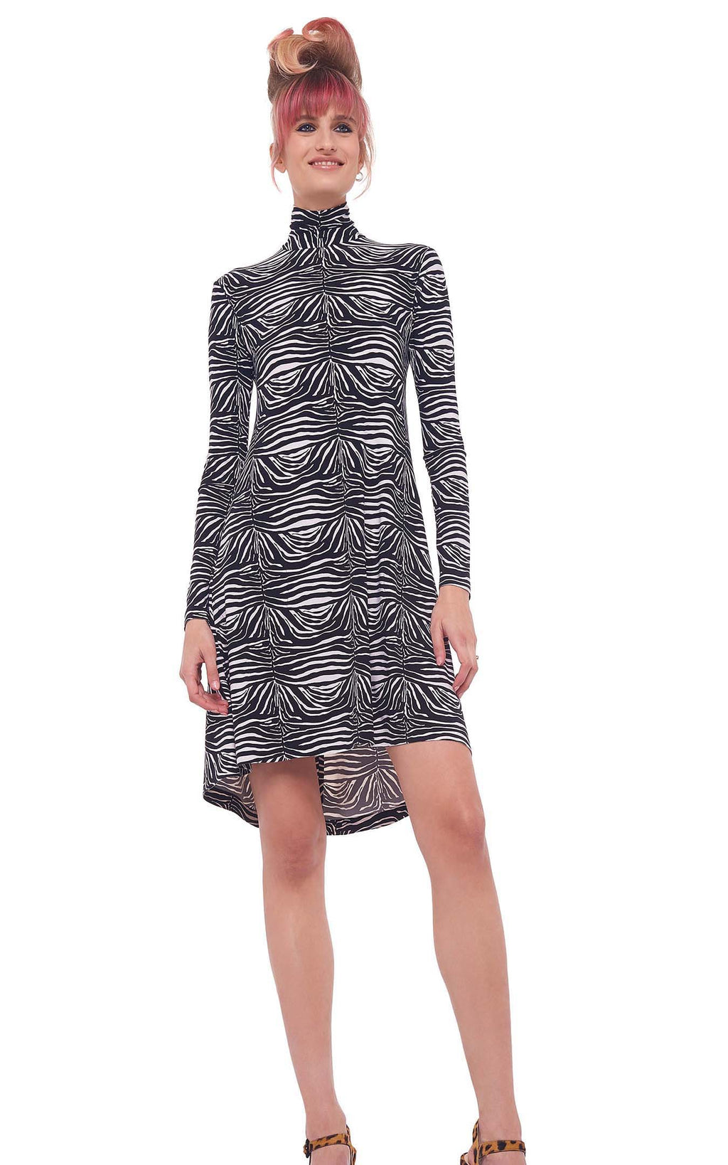 Zebra Swing Dress Norma Kamali