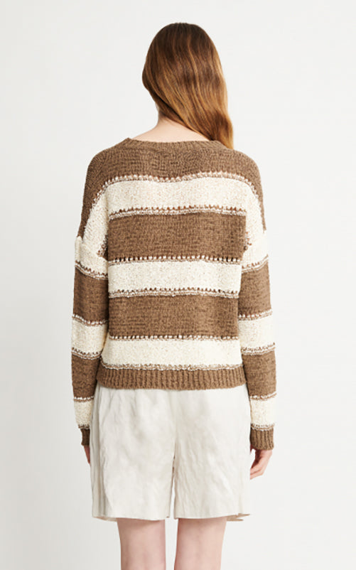 Fabiana Filippi Stripe Crew Sweater