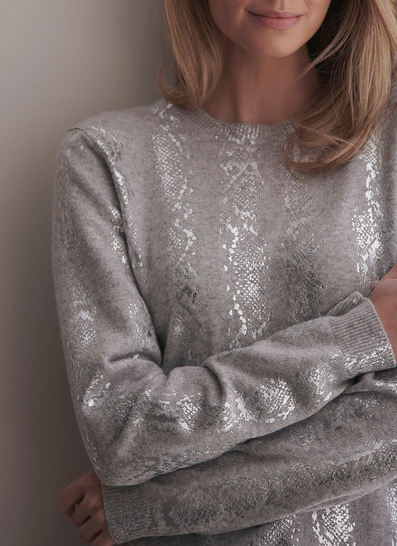 Brodie Snake Foil Sweater