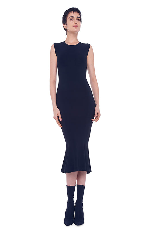 Norma Kamali Sleeveless Fishtail Dress
