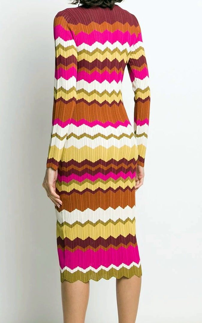 Pinko Zig Zag Dress | ANDREWS