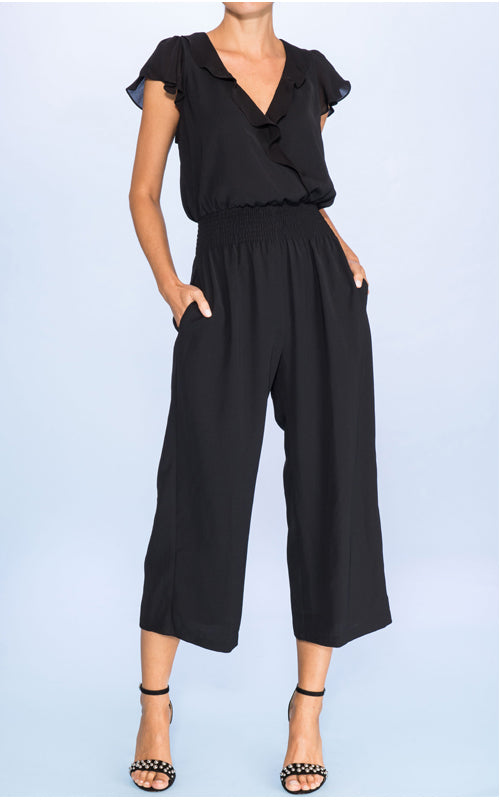Parker Billie Ruffle Sleeve Jumpsuit