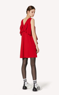 Satin Bow Back Dress Red Valentino