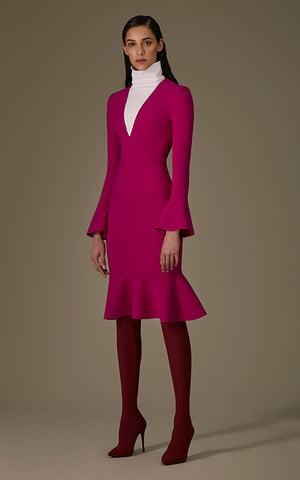 Hedda Long Bell Sleeve Dress Greta Constantine