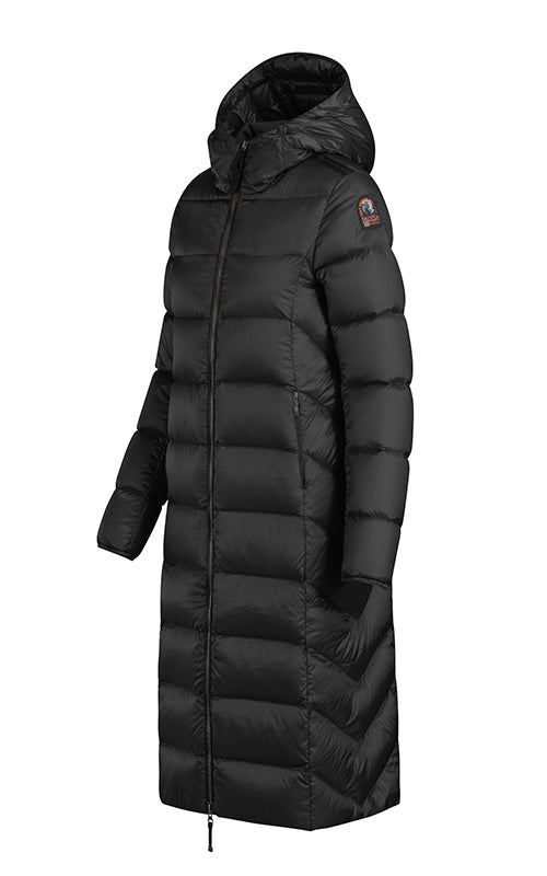 Leah Long Puffer - Black