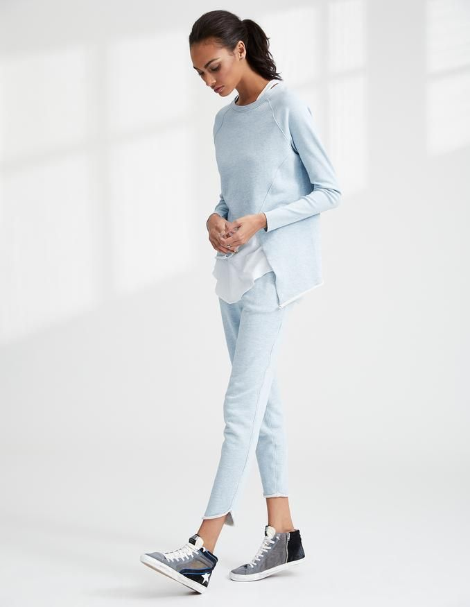 Asymmetric Sweatshirt - Blue Tee Lab