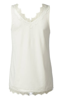 Billie Wide Strap Cami - White Rosemunde