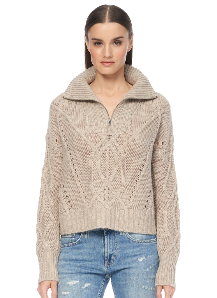 Lyndsay Zip Sweater 360 Cashmere