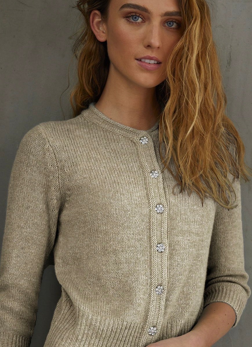 Autumn Cashmere Baby Cardigan With Jewel Buttons