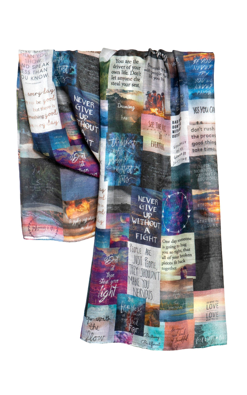 Unbreakable Evolution Good Quotes Scarf