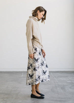 Painted Crema Slip Skirt Vince