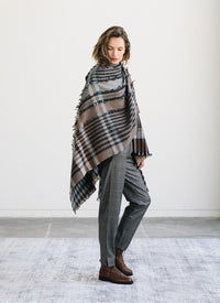Fabiana Filippi Plaid Shawl
