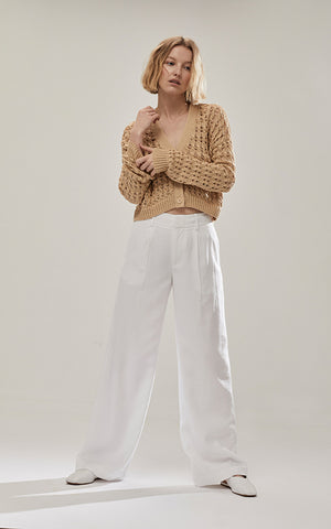 Pleat Front Tapered Trouser Vince