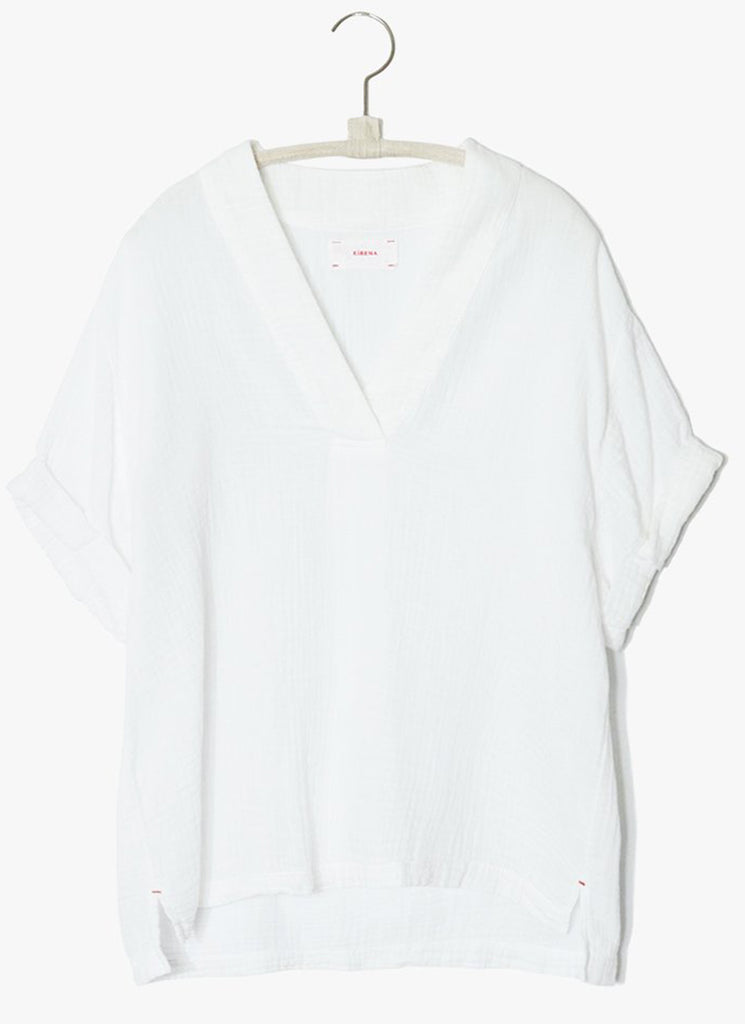 Xirena Avery Popover Short Sleeve Top