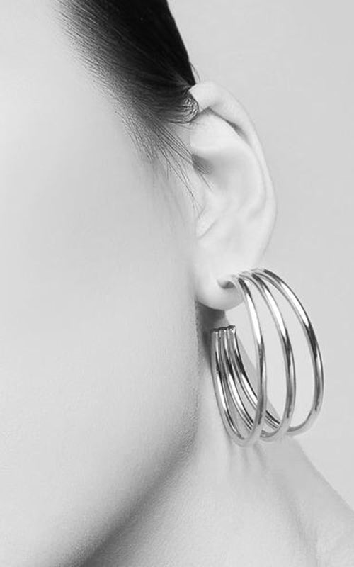 Genesis Hoop Earrings - Silver Biko