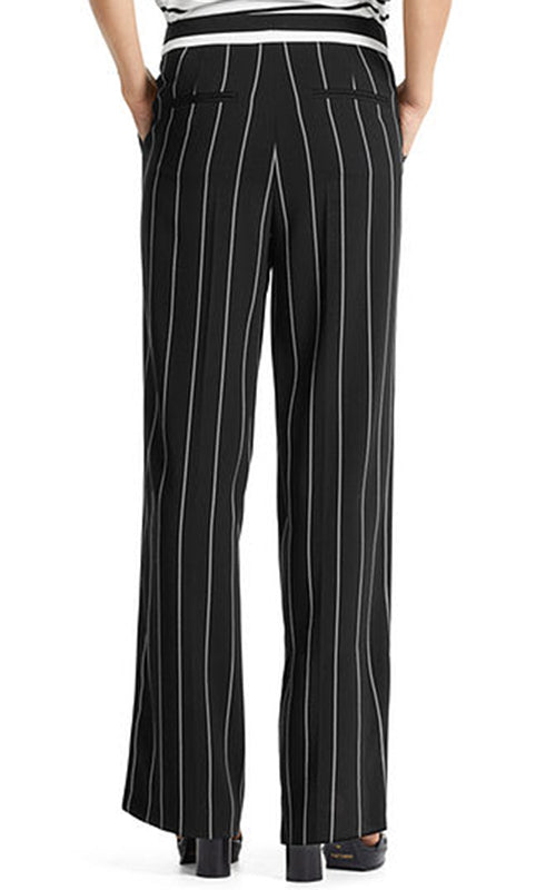 Stripe Wide Leg Trouser Marc Cain