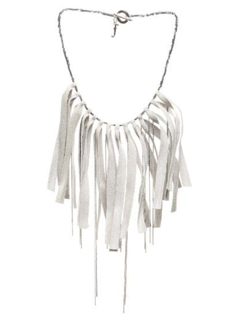Fabiana Filippi Fringe Leather Necklace