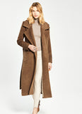 Boucle Suri Notched Wrap Coat