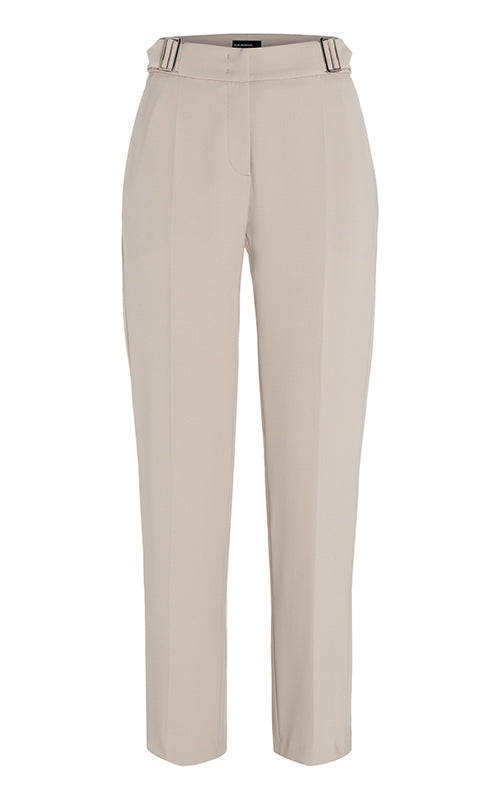 Gin Crepe Double Buckle Pant