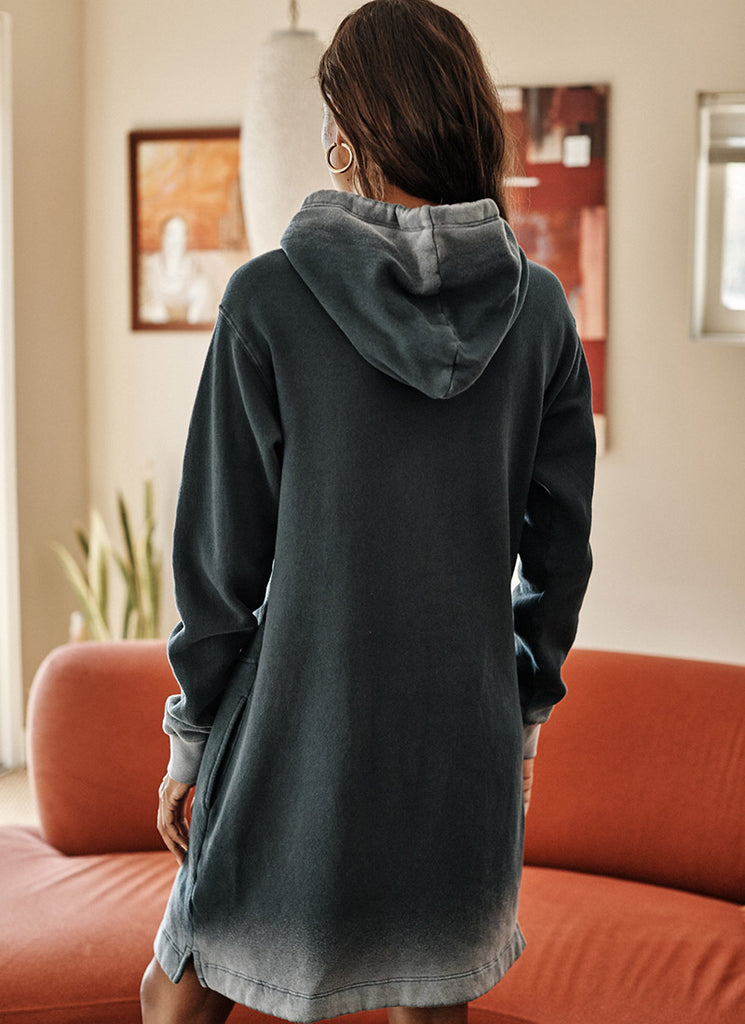 Velvet Dekota Ombré Hooded Dress