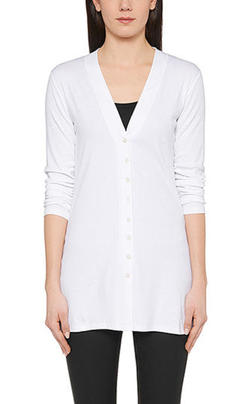 Long Cardigan - White Marc Cain