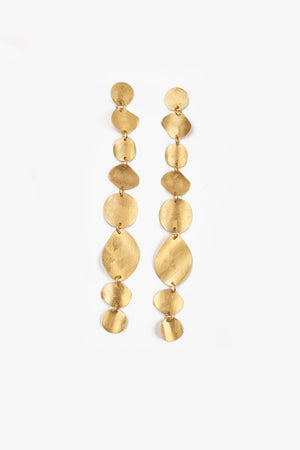 Gold 8-tier earring
