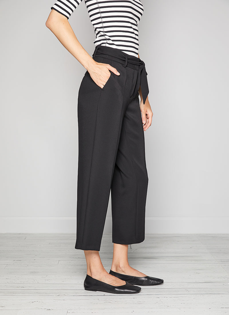 Cambio Claire Wide Leg Belted Crop Pant
