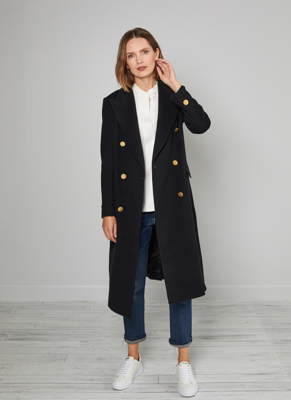 Taglitore Long Belted Coat