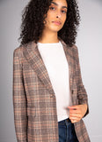 Check Slim Long Blazer Circolo 1901