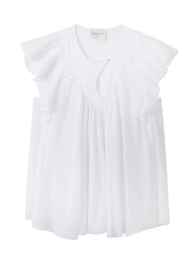 Cotton Silk Voile Sleeveless Top