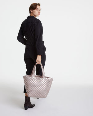 Medium Metro Metallic Tote MZ Wallace