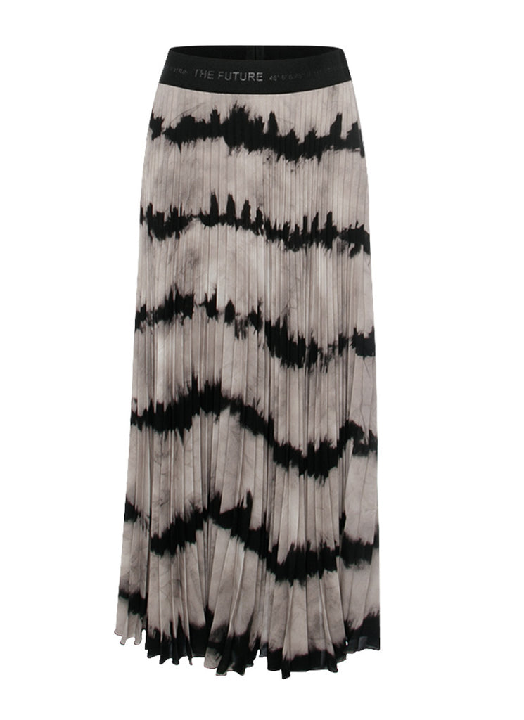 Cambio Holly Tie-Dye Pleated Midi Skirt