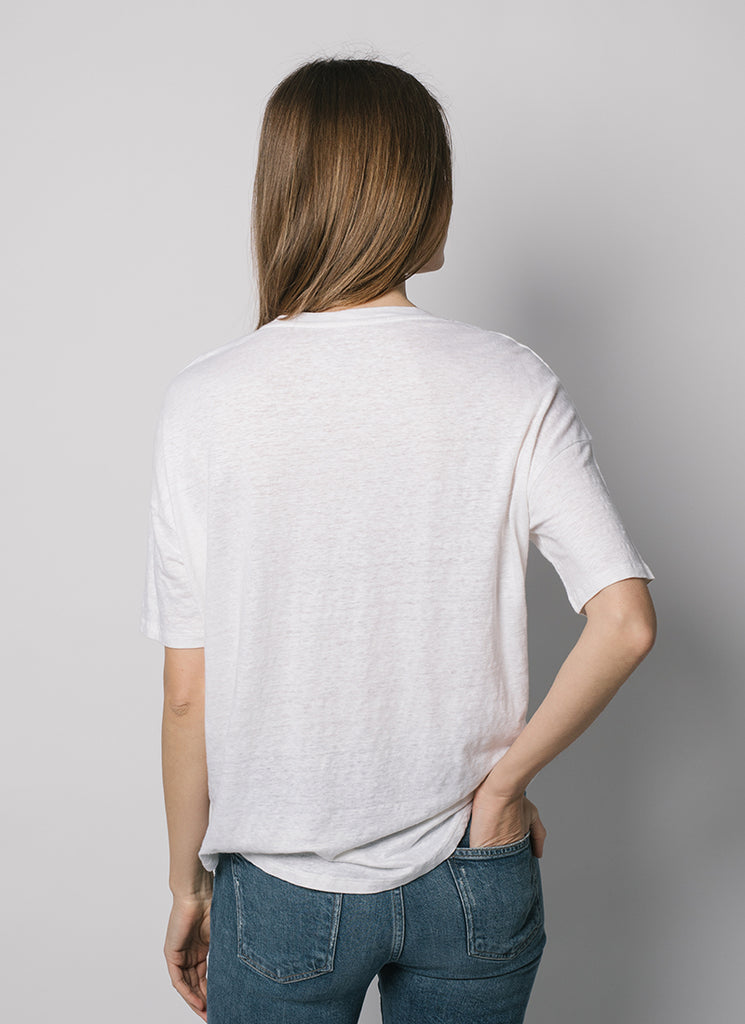 Majestic Stretch Linen Tee