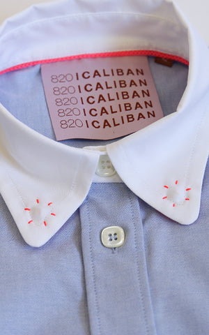 Button Up Shirt with Contrast Collar Caliban