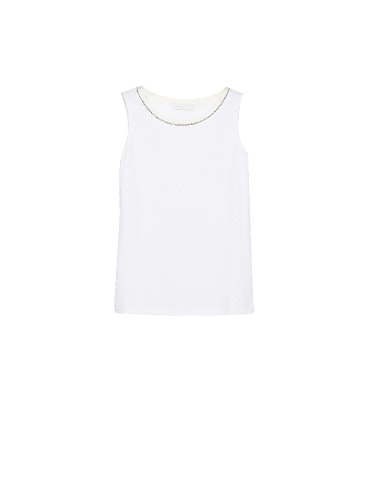 Fabiana Filippi Brilliant Neck Trim Tank