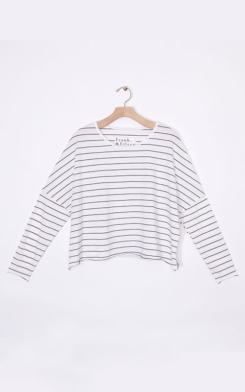Long Sleeve Stripe Crop Tee