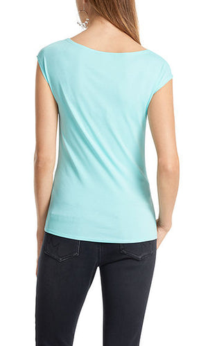 Stretch Cotton Crew Tee Marc Cain