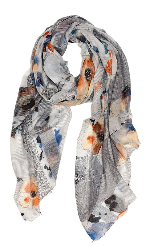 Fulfill Floral Stripe Scarf Tilo