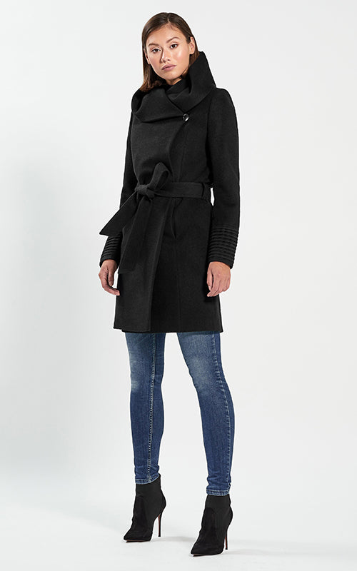 3/4 Wrap Coat with Hood