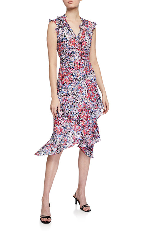 Parker Atlanta Floral Ruffle Dress