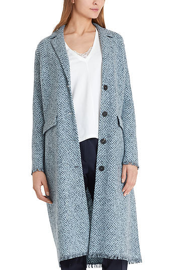 Tweed Long Coat Marc Cain