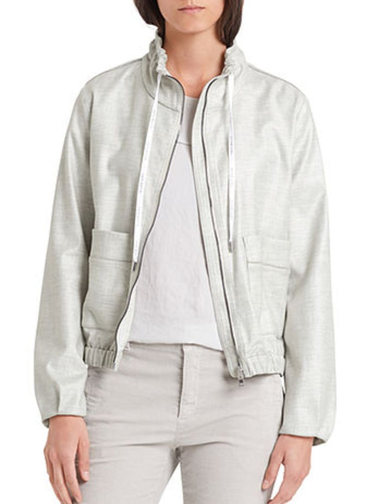 Marc Cain Metallic Bomber Jacket