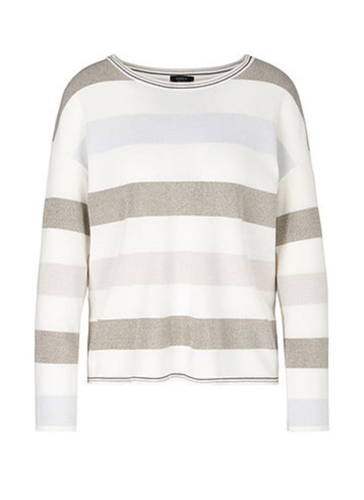 Marc Cain Striped Long Sleeve Crew